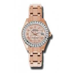 Rolex Pearlmaster Lady Everose Gold White mop 80285