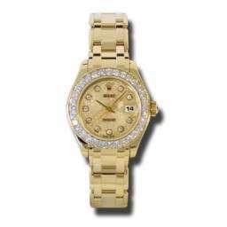 Rolex Lady Pearlmaster Champagne Jub/diamond 80298