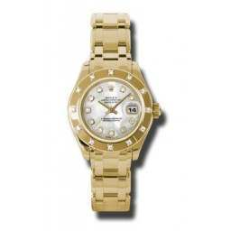 Rolex Lady Pearlmaster White mop/diamond 80318