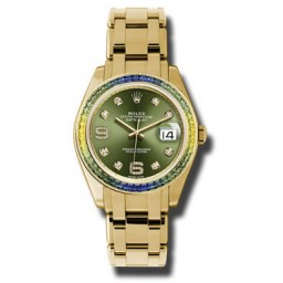 Rolex Datejust Pearlmaster Yellow Gold 86348SABLV
