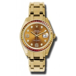 Rolex Datejust Pearlmaster Yellow Gold 86348SAJOR