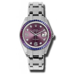 Rolex Datejust Pearlmaster White Gold 86349SAFUBL