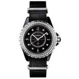Chanel J12 Black Gem-Set H4189