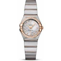 Omega Constellation Brushed Quartz Diamonds 123.25.24.60.52.001
