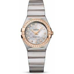 Omega Constellation Brushed Quartz Diamonds 123.25.27.60.52.001