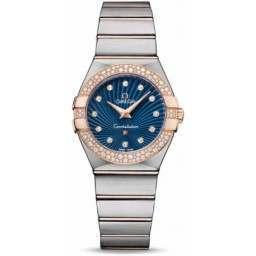 Omega Constellation Brushed Quartz Diamonds 123.25.27.60.53.001