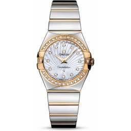 Omega Constellation Polished Quartz Diamonds 123.25.27.60.55.008