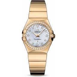 Omega Constellation Polished Quartz Diamonds 123.55.27.60.55.007