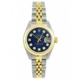 Rolex Lady Datejust Blue diamond dial - 69173