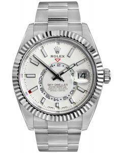 Rolex Sky-Dweller White Dial Steel/ White Gold 326934 - As New